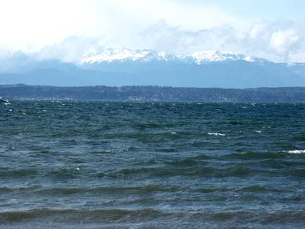 View of Golden Gardens Beach